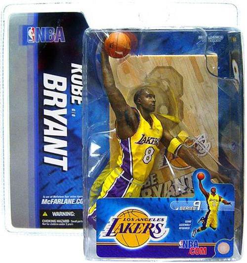 McFarlane Toys NBA Los Angeles Lakers Sports Picks Series 9 Kobe Bryant Action Figure [Yellow Jersey, Damaged Package]