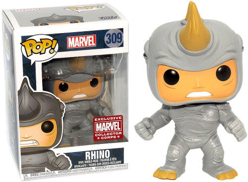 Funko POP! Marvel Rhino Exclusive Vinyl Bobble Head #309 [Animal Instinct]