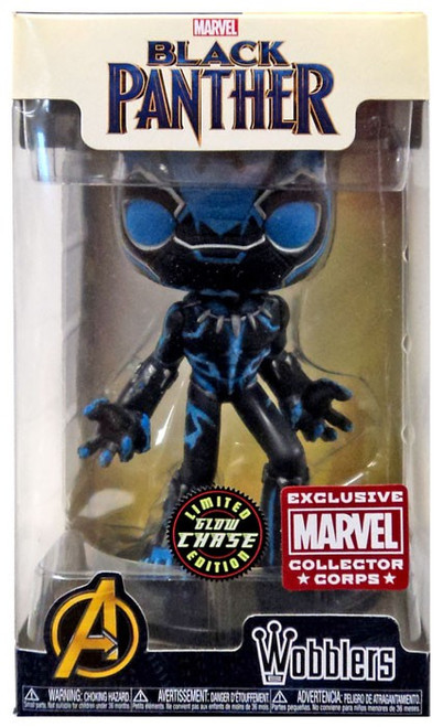 Funko Marvel Wacky Wobbler Black Panther Exclusive Bobble Head [Animal Instinct, Glow-in-the-Dark Chase]