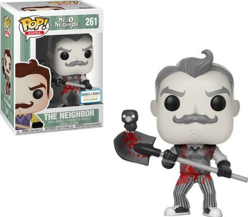 Funko Hello Neighbor POP! Games The Neighbor Exclusive Vinyl Figure #261 [B&W with Blood]