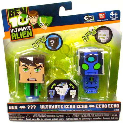 Ben 10 Ultimate Alien Transforming Figures Ben to Rath & Ultimate Echo Echo to Echo Echo 2.5-Inch Figure 2-Pack [Slightly Damaged Package]