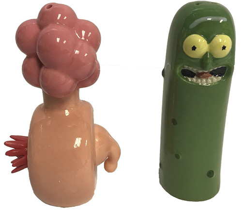 Rick & Morty Pickle Rick & Plumbus Salt & Pepper Shakers