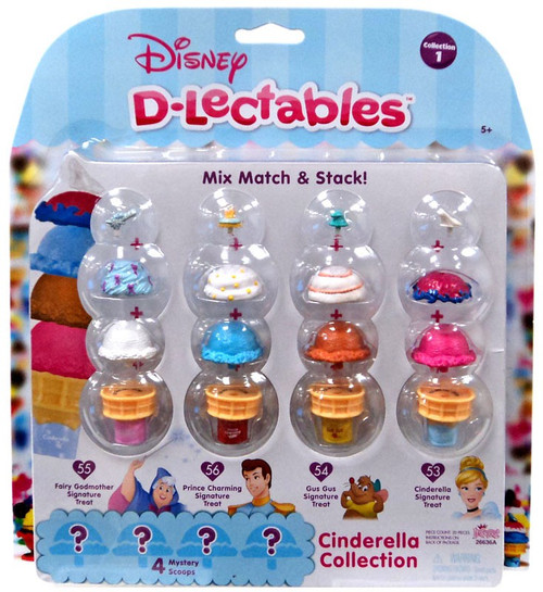 Disney D-Lectables Collection 1 Cinderella Collection Mini Figure 4-Pack