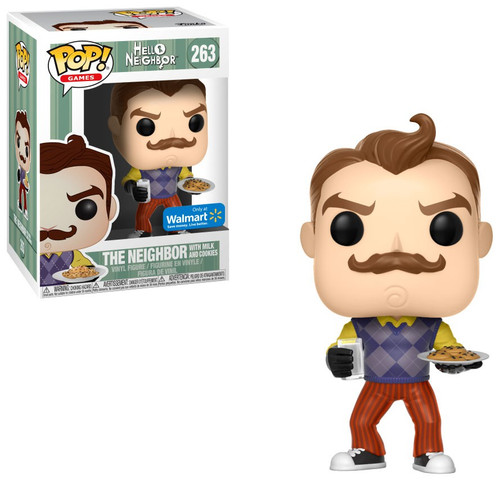 Funko Hello Neighbor POP! Games The Neighbor with Milk & Cookies Exclusive Vinyl Figure #263