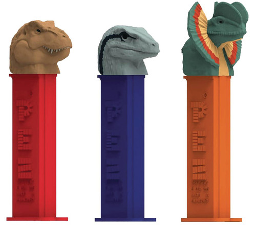 Pez Jurassic World Random Styles Box of 12 PEZ Dispensers