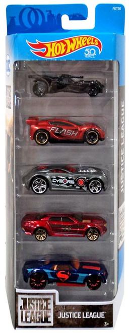 Hot Wheels Justice League Batmobile, Synkro, Sir Ominous, Ryura LX & Bully Goat Diecast Car 5-Pack