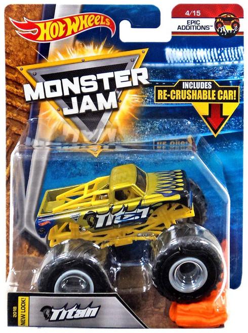 Hot Wheels Monster Jam Titan Die-Cast Car #4/15 [Epic Additions, Crushable Car]