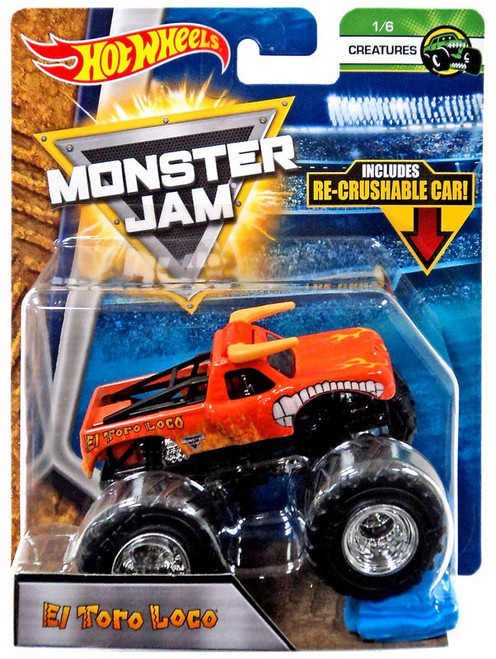 Hot Wheels Monster Jam 25 El Toro Loco Die-Cast Car #1/6 [Creatures]