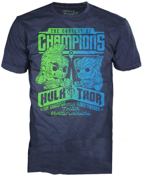 Funko Marvel Thor: Ragnarok Hulk vs. Thor Contest of Champions Exclusive T-Shirt [Large]