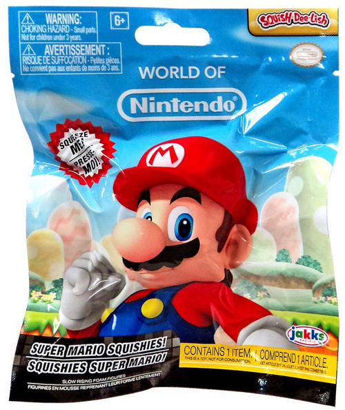 World of Nintendo Squish-Dee-Lish Super Mario Series 1 Mystery Pack