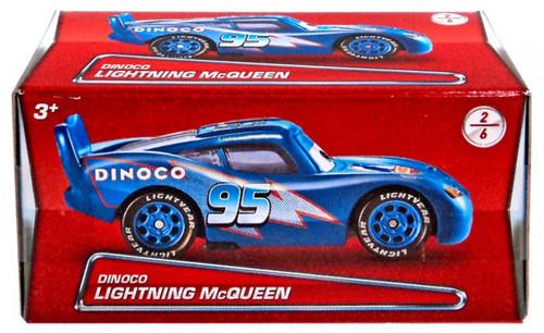 Disney / Pixar Cars Puzzle Box Series 2 Dinoco Lightning McQueen Diecast Car #2/6