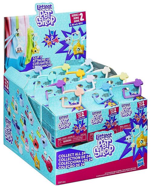 Littlest Pet Shop Clip It Series 2 Mystery Box [24 Packs, 2-B1 thru 2-B24]