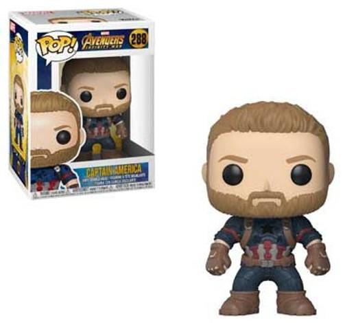 Funko Marvel Universe Avengers Infinity War POP! Marvel Captain America Vinyl Figure #288 [Infinity War]