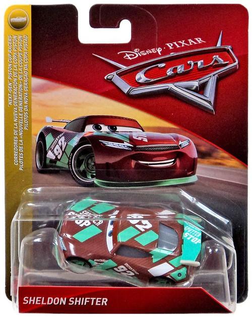 "Disney / Pixar Cars Cars 3 ""Next-Gen"" Piston Cup Racers Sheldon Shifter Diecast Car"