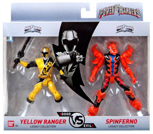 Power Rangers Good Vs. Evil Yellow Ranger vs. Spinferno Action Figure 2-Pack