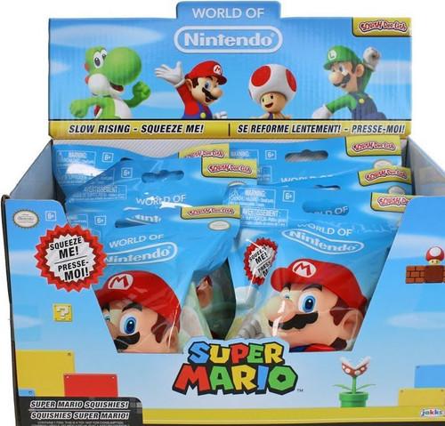 World of Nintendo Squish-Dee-Lish Super Mario Series 1 Mystery Box [12 Packs]