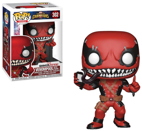 Funko Contest of Champions POP! Marvel Venompool with Phone Exclusive Vinyl Bobble Head #302