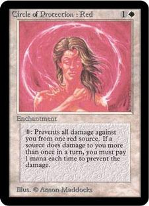 MtG Alpha Common Circle of Protection: Red