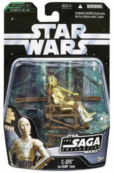 Star Wars Return of the Jedi 2006 Saga Collection C-3PO Action Figure #42 [With Ewok Throne]