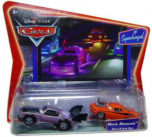 Disney / Pixar Cars Supercharged Movie Moments Boost & Snot Rod Diecast Car 2-Pack