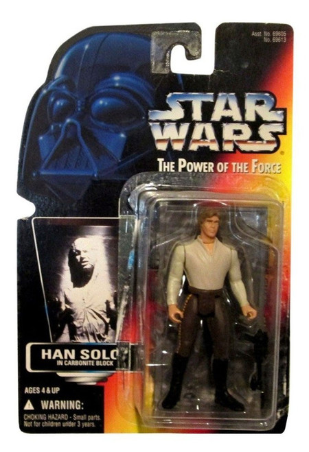 Star Wars Return of the Jedi Power of the Force POTF2 Han Solo in Carbonite Block Action Figure