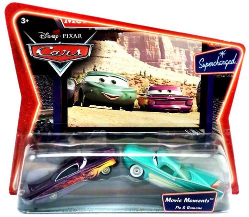 Disney / Pixar Cars Supercharged Movie Moments Flo & Ramone Diecast Car 2-Pack