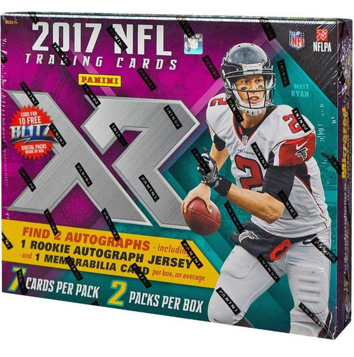 NFL Panini 2017 XR Football Trading Card HOBBY Box [2 Packs]