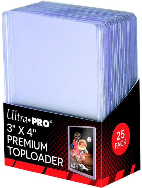 """Ultra Pro Card Supplies 3"""" X 4"""" PREMIUM Toploader [25 Count, Holds 35pt Cards]"""