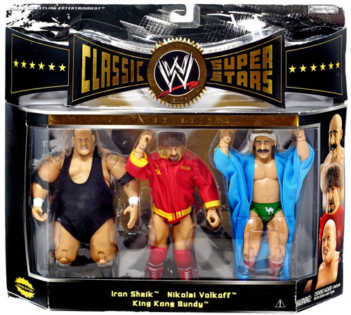 WWE Wrestling Classic Superstars Series 4 Iron Sheik, King Kong Bundy & Nikolai Volkoff Action Figure 3-Pack