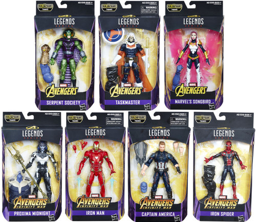Avengers Infinity War Marvel Legends Thanos Series Set of 7 Action Figures