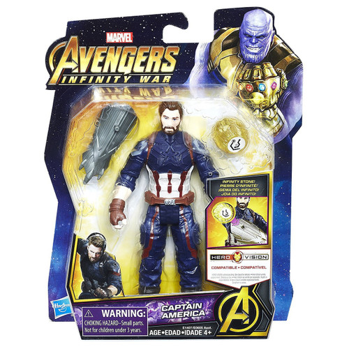 Marvel Avengers Infinity War Captain America Action Figure [with Stone]