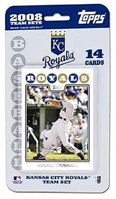 MLB 2008 Baseball Kansas City Royals Trading Card Team Set