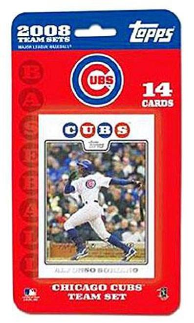 MLB 2008 Baseball Chicago Cubs Trading Card Team Set