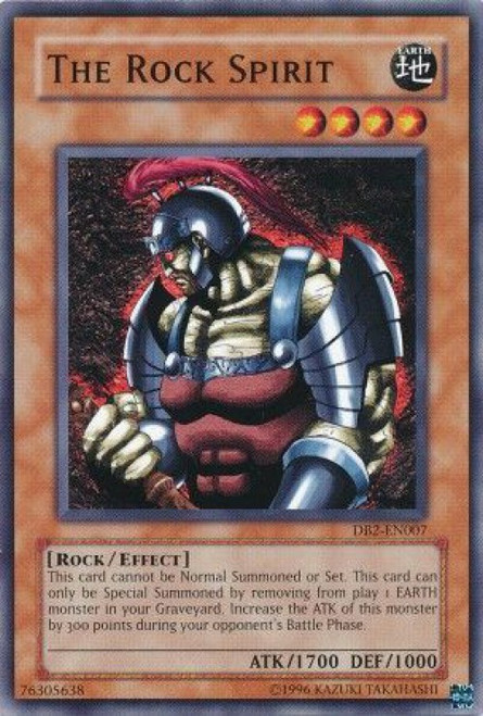 YuGiOh Dark Beginning 2 Common The Rock Spirit DB2-EN007