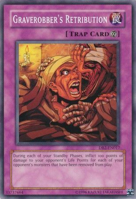 YuGiOh Dark Beginning 2 Common Graverobber's Retribution DB2-EN017
