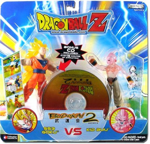 Dragon Ball Z Budokai Battles SS3 Goku vs. Kid Buu Action Figure 2-Pack