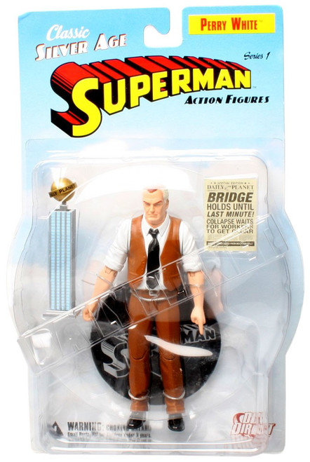 Superman Classic Silver Age Perry White Action Figure
