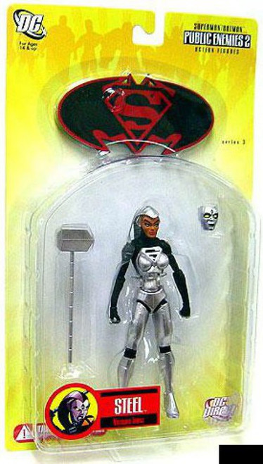 DC Superman Batman Series 3 Public Enemies 2 Stee Action Figure [Natasha Irons]
