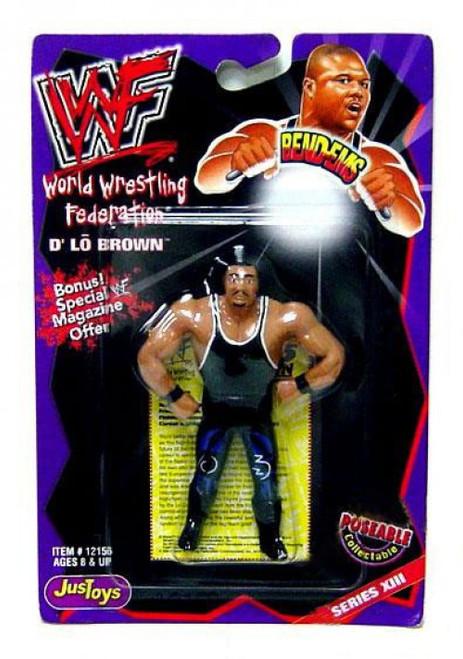 WWE Wrestling WWF Bend-Ems Series 13 D'Lo Brown Rubber Figure