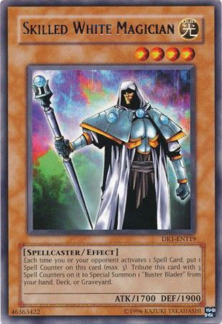 YuGiOh Dark Revelation 1 Rare Skilled White Magician DR1-EN119