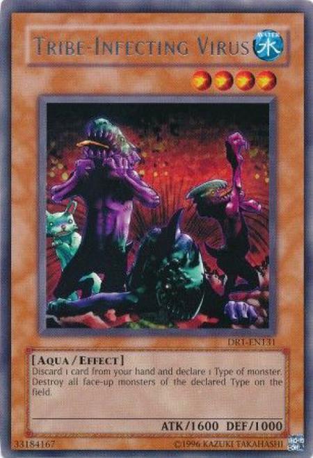 YuGiOh Dark Revelation 1 Rare Tribe-Infecting Virus DR1-EN131