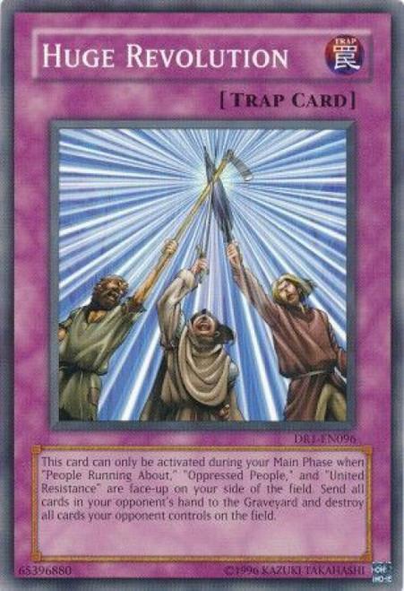 YuGiOh Dark Revelation 1 Common Huge Revolution DR1-EN096
