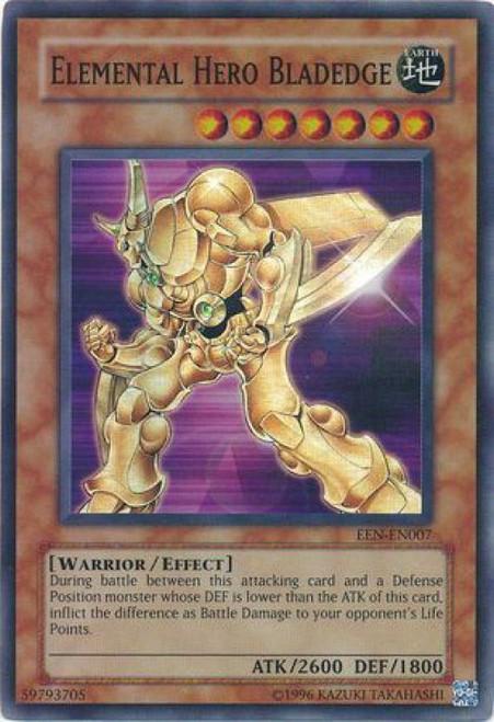 YuGiOh Elemental Energy Super Rare Elemental Hero Bladedge EEN-EN007