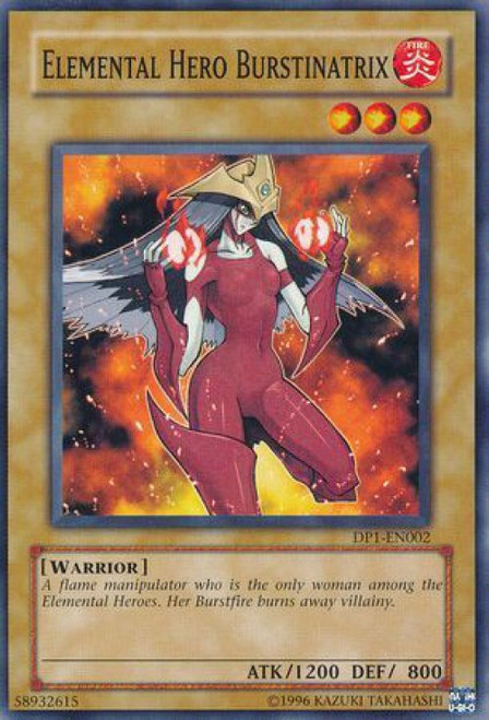 YuGiOh GX Trading Card Game Duelist Pack Jaden Yuki Common Elemental Hero Burstinatrix DP1-EN002