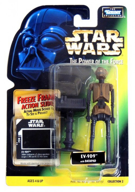 Star Wars Return of the Jedi Power of the Force POTF2 Kenner Collection EV-9D9 with Datapad Action Figure