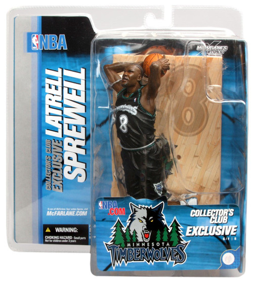 McFarlane Toys NBA Minnesota Timberwolves Collector's Club Latrell Sprewell Exclusive Action Figure