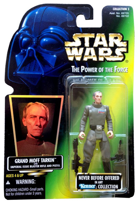 Star Wars A New Hope Power of the Force POTF2 Collection 3 Grand Moff Tarkin Action Figure [Hologram Card]