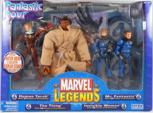 Marvel Legends Vintage Series Fantastic Four Exclusive Action Figure 4-Pack