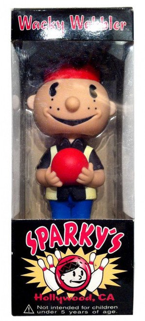 Funko Sparky's Wacky Wobbler Sparky Bowler Exclusive Bobble Head
