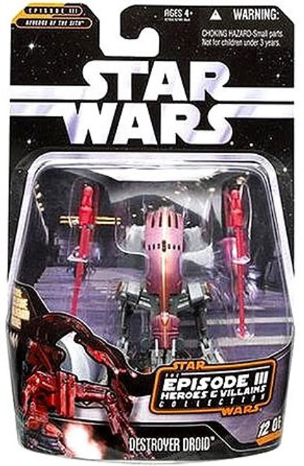 Star Wars Revenge of the Sith 2006 Episode III Heroes & Villains Destroyer Droid Action Figure #12 of 12